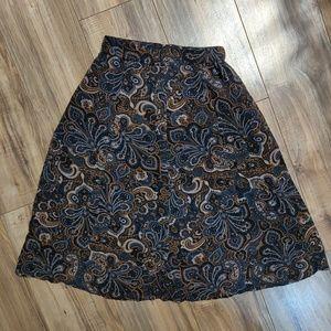 Forever 21 Paisley skirt